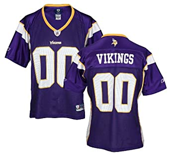 Minnesota Vikings NFL Ladies Team Replica Jersey, Purple by Reebok