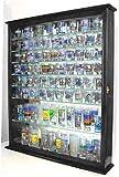 110 Shot Glass Display Case Shadow Box Wall Cabinet, Glass Door, Mirrored Back, SC09-BLA