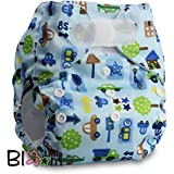 """LittleBloom, Reusable Pocket Cloth Nappy, Fastener: Velcro, Set of 1, Pattern 41, Without Insert, (see """"Special Offers and Product Promotions"""" for Special Offers Detail)"""
