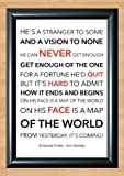30 Seconds To Mars 'From Yesterday' Lyrical Song Print Poster Art A4 Size (Typography)
