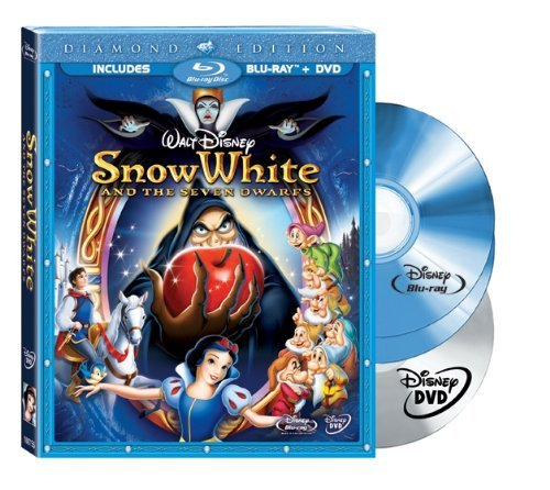 Cover art for  Snow White and the Seven Dwarfs (Three-Disc Diamond Edition Blu-ray/DVD Combo + BD Live w/ Blu-ray packaging)