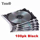Yens® 100 SLIM Black CD Jewel Cases