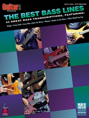 The Best Bass Lines: 24 Great Bass Transcriptions (Guitar One Presents)