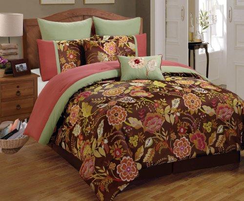 8 Piece Queen Cressona Jacquard Comforter Set front-996183