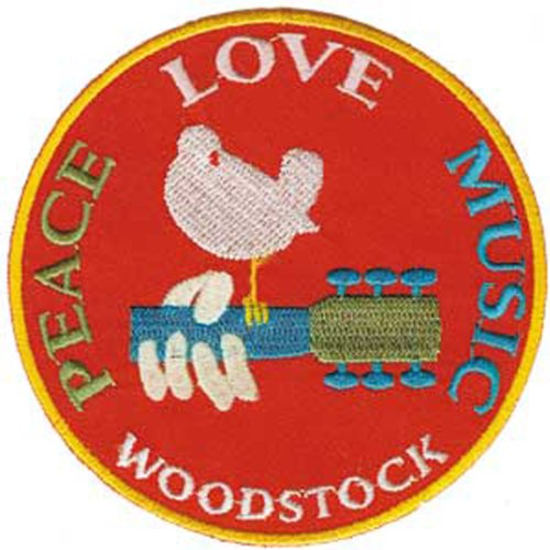 Application Woodstock Peace, Love, Music Patch