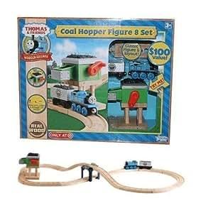 Thomas & Friends Wooden Railway Sodor Coal Hopper Figure 8 Set