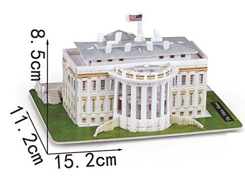 3D Puzzle White House s. CubicFun Building Like Lego , 35 Pieces Toy