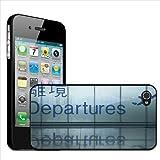 Fancy A Snuggle Coque arrière rigide à clipser pour Apple iPhone 44S Motif vue des signalisations des départs en Asie avec traduction en anglais