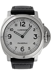 Panerai Men's PAM00114 Luminor Base White Dial Watch