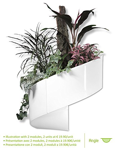 Modul'Green - Vaso per piante a muro Design - Interno / Esterno - Bianco