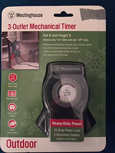 3-Outlet Mechanical Timer (Westinghouse Light Timer compare prices)