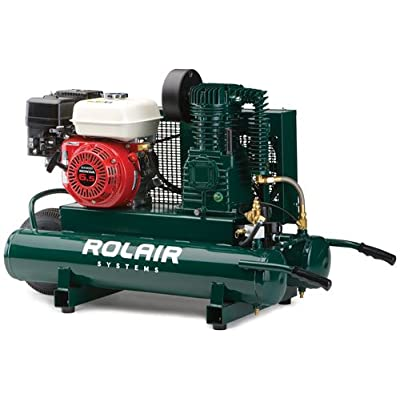 Rol-Air 6590HK18 Air Compressor GX200 Honda 9 GAL