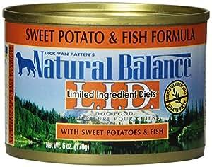 Natural Balance Fish Sweet Potato Formula Dog Food (Pack of 12 6-Ounce Cans)
