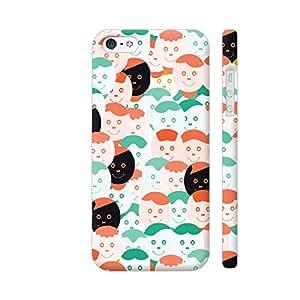 Colorpur Abstract Smiling Face Pattern Artwork On Apple iPhone SE Cover (Designer Mobile Back Case) | Artist: Designer Chennai