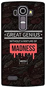 The Racoon Lean Red Madness Genius hard plastic printed back case / cover for LG G4