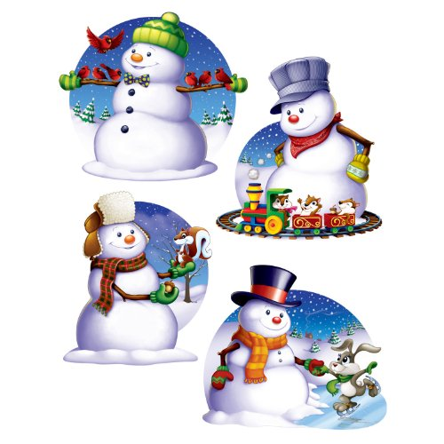 Beistle 4-Pack Snowman Cutouts, 16-Inch front-966525