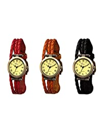 The Gledati 3 Analog Watches Combo For All_ADCOMB0002479