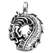 Large Dragon Head Pendant in Lead-Free Pewter