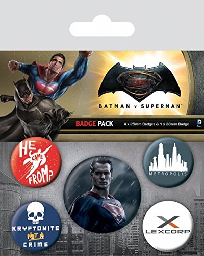 Spilla Batman v Superman Pin Badges 5 Pack Superman Other