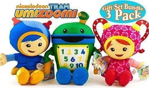 Team Umizoomi Plush Set - Bot, Geo, Milli