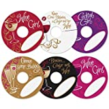 Personalized Wine Tags - Wine Party Wine Glass ID - Wine Glass Markers - Holiday Glass Charms & Tags - MY GLASS TAGS HUNNIES & HOTTIES - Set of 24