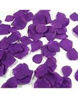 1000 Pétales de Rose en Soie pour Mariage - Couleur Violet