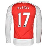 Puma Alexis #17 Arsenal Home Jersey 2015-16 Long Sleeve( Authentic name and number of player)/サッカーユニフォーム ア-セナルFC ホーム用 長袖 アレクシス 背番号17 (Medium)