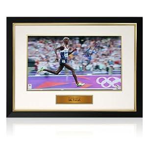 Mo Farah Signed London 2012 Olympics Photo: Finishing Kick from exclusivememorabilia.com