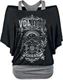 Volbeat Old Letters Girl-Shirt schwarz/grau