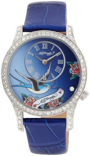 Ed Hardy Women's EL-BL Elizabeth Blue Watch