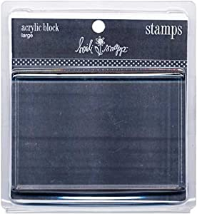 Heidi swapp large clear acrylic rubber stamp block for Large acrylic block