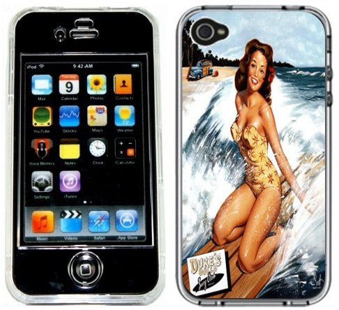 Pin-Up Girl Vintage Handmade iPhone 4 4S Full Hard Plastic Case