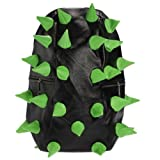 Green & black Unisex Hedgehog Spike Punk Backpack Spiky Tablet Travelling Bag School Bag