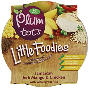 Plum Baby Organic 12 Plus Months Jamaican Jerk Mango and Chicken with Wholegrain Rice (Pack of 5)