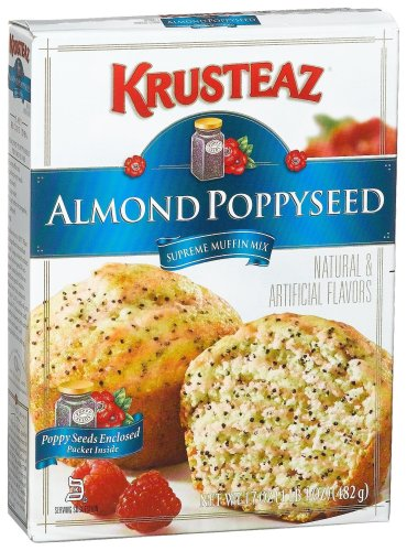 Krusteaz Almond Poppyseed Supreme Muffin Mix, 17-Ounce Boxes (Pack of 12)