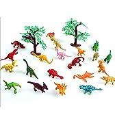 Aubig シミュレーション スタティック 恐竜セット 合成樹脂 動物 模型 おもちゃ 2寸 22匹