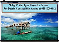 Inlight Map Type Projector Screen, 6 W x 4 H(IN IMPORTED HIGH GAIN FABRIC A+++++ GRADE)