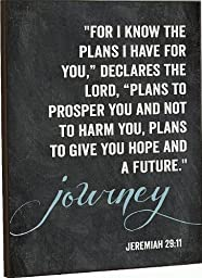 For I Know The Plans I Have For You Jeremiah 29:11 Chalkboard Art 16 X 12 by P Graham Dunn