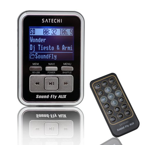Soundfly Aux Mp3 Player Car Fm Transmitter For Sd Card, Usb Stick, Mp3 Players (Ipod, Zune, Sansa) With Remote Control