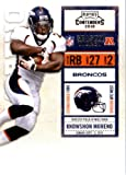 2010 Playoff Contenders Football Card # 29 Knowshon Moreno - Denver Broncos - NFL Trading Card