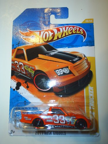 Hot Wheels 2011 Circle Trucker New Models 46 of 50 #33 Orange - 1