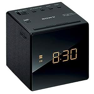 sony icf c1bc clock radio black electronics. Black Bedroom Furniture Sets. Home Design Ideas
