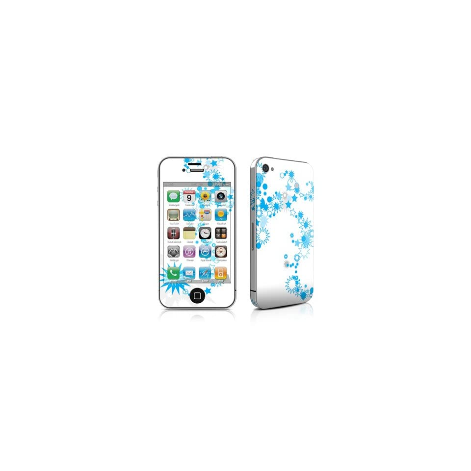Star Spiral Design Protective Skin Decal Sticker for Apple iPhone 4 / 4S 16GB 32GB 64GB