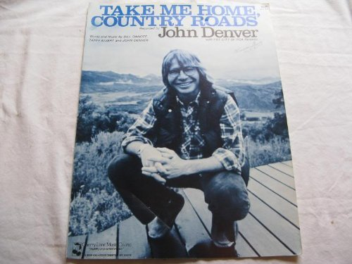 TAKE ME HOME COUNTRY ROADS JOHN DENVER 1971 SHEET MUSIC FOLDER 395 SHEET MUSIC
