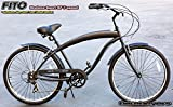 "Free Shipping! Fito Modena Sport SF 7-speed Men - All Matte Black, 26"" Beach Cruiser Bike Bicycle, Ccrank fordward design, Limted QTY Offer!"