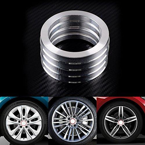 [해외]57.1mm ID 허브 중심 Hubcentric 링으로 설정 4 개 알루미늄 73.1mm 외경/Set 4pcs Aluminum 73.1mm OD to 57.1mm ID Hub Centric Hubcentric Ring