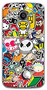 The Racoon Lean printed designer hard back mobile phone case cover for Moto X 2nd Gen. (Sticker Bo)
