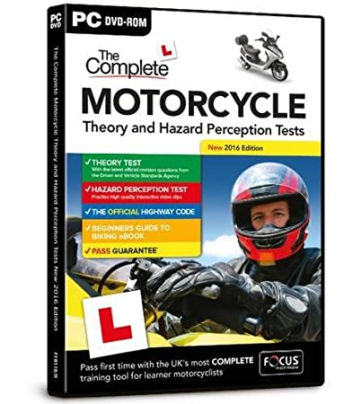 The Complete Motorcycle Theory and Hazard Perception Tests New 2016 Edition (PC)