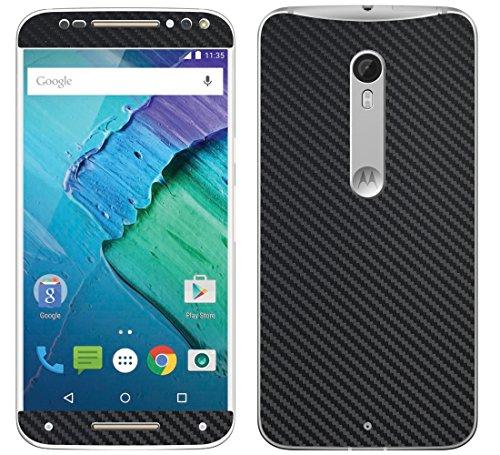 Decalrus - Motorola Moto X Pure Edition / Moto X Style BLACK Texture Carbon Fiber skin skins decal for case cover wrap CFmotoXPureBlack (Carbon Fiber Moto X compare prices)