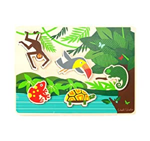 DwellStudio Wooden Puzzle, Toucan (Discontinued by Manufacturer)